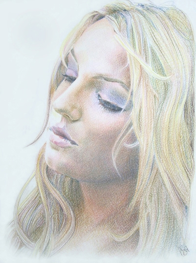 Drawn portrait britney spears Britney  drawing BalloonFactory #BritneySpears