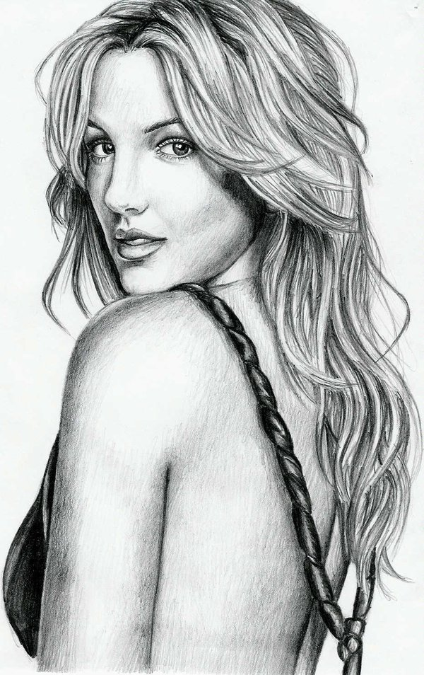 Drawn portrait britney spears DeviantArt Britney Spears by pbwh