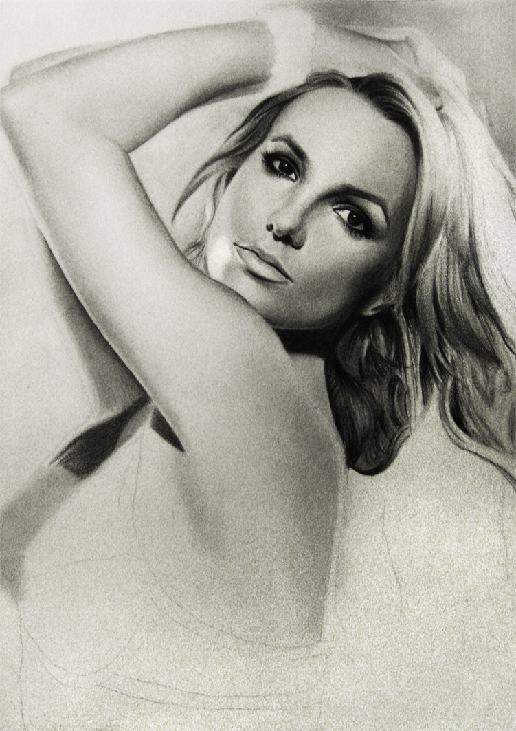 Drawn portrait britney spears  Britney #Britney #art chazdesigns