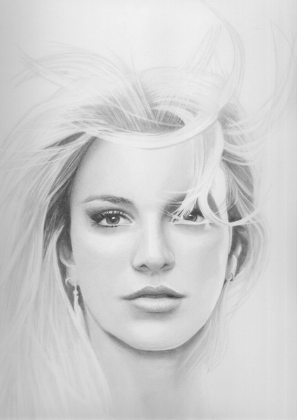 Drawn portrait britney spears STARVING ARTISTS 2 Britney Spears