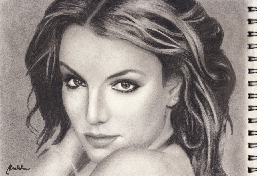Drawn portrait britney spears DeviantArt britney spears by rachdeart