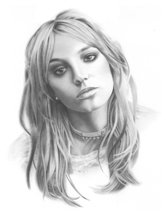 Drawn portrait britney spears Portraits Drawing golfiscool Portrait on