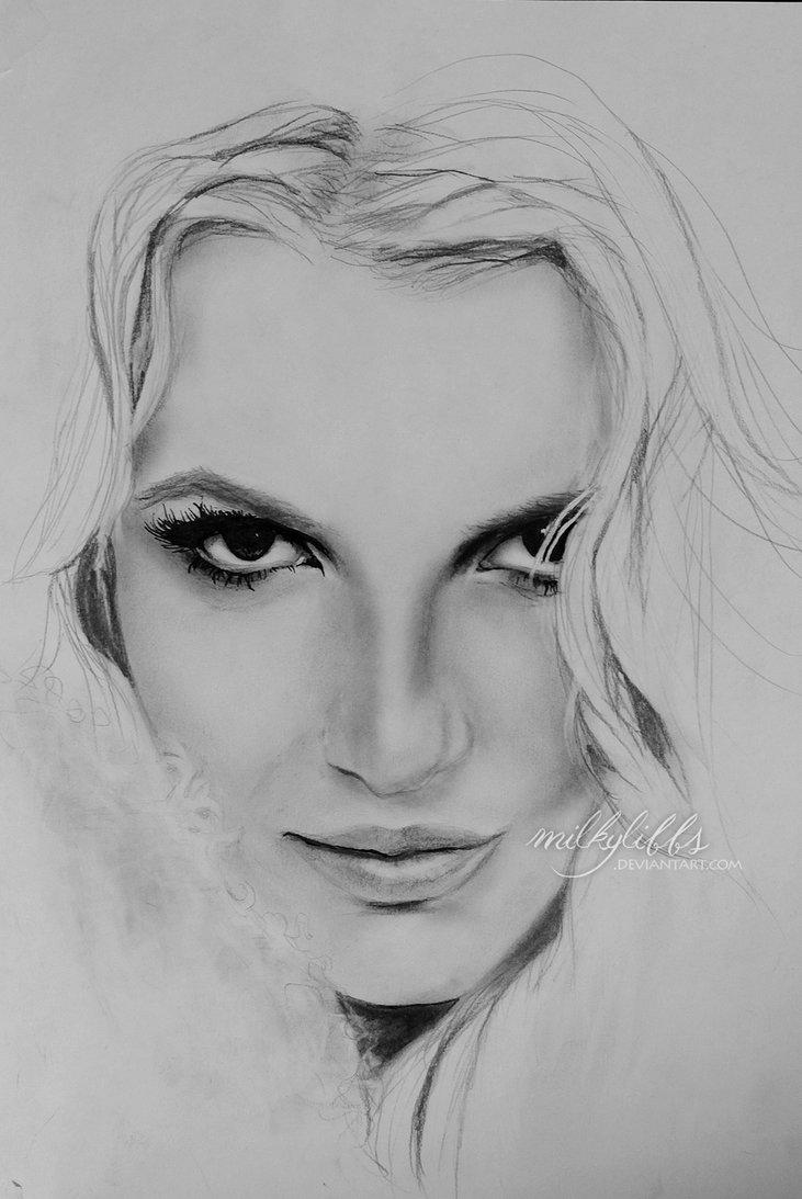 Drawn portrait britney spears On milkylibbs Britney DeviantArt by