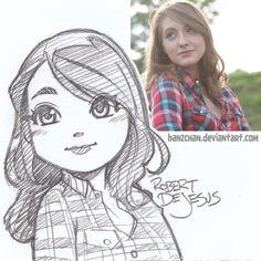 Drawn portrait cartoon  Photo PortraitCartoon by commission