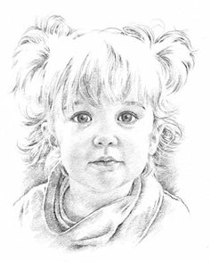 Drawn portrait children's face Drawing Scanlan drawing Baby …