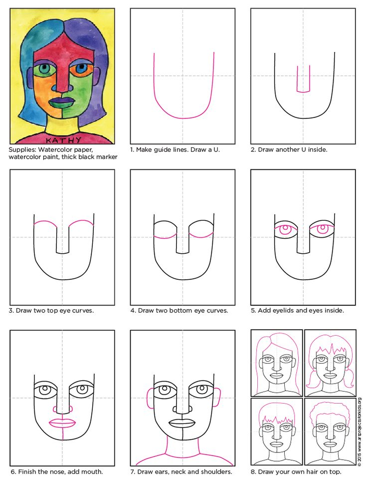 Drawn portrait children's face 25+ A drawing shapes yourself