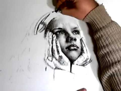 Drawn portrait coal Daydreams charcoal YouTube drawing