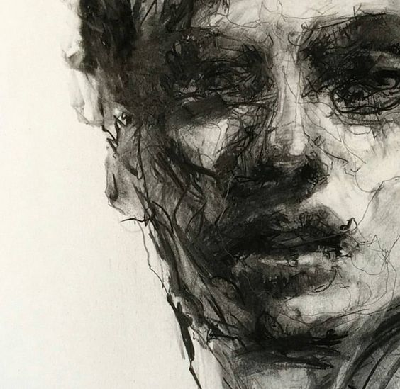 Drawn portrait coal Your Eye Charcoal drawings 4