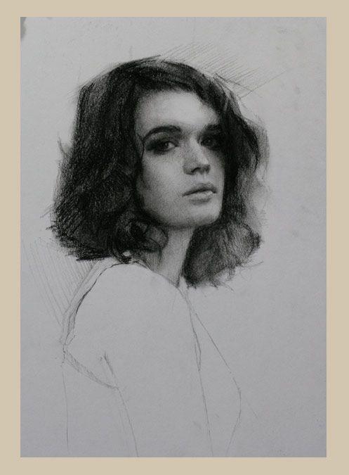 Drawn portrait coal Pinterest Drawings Rebecca  Louis