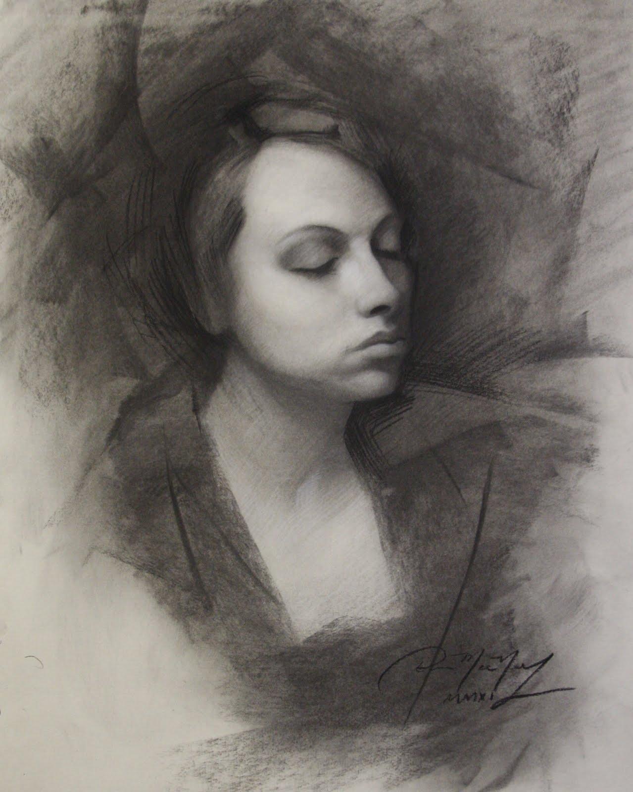Drawn portrait coal Charcoal drawing 818x1024 final 818x1024
