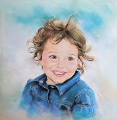 Drawn portrait color HAND FAMILY  OIL PORTRAIT