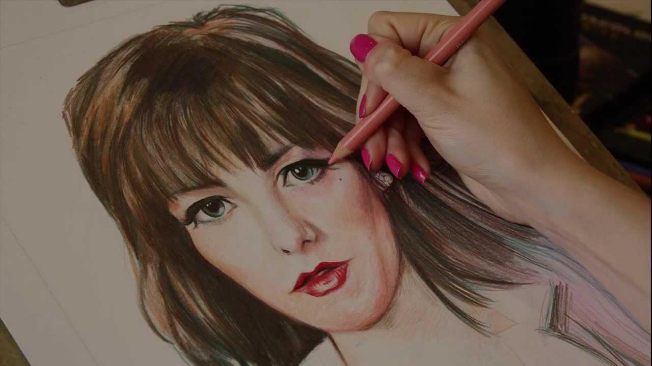 Drawn portrait color Lianne Colour Drawing Portrait