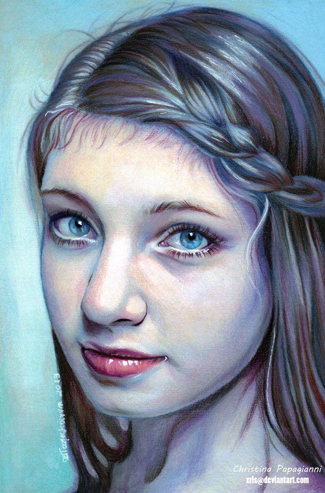 Drawn portrait color Painting Rustic kids 25+ Pencil
