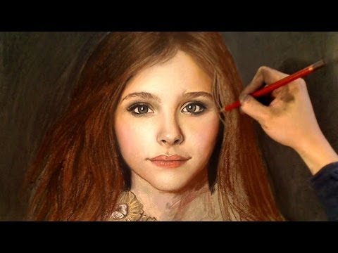 Drawn portrait color Color YouTube from Moretz Chloe