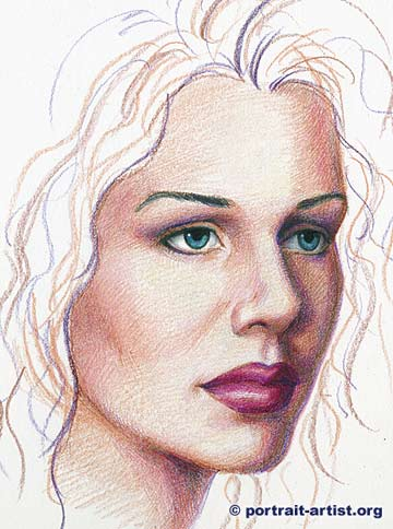 Drawn portrait colored pencil Portrait  pencil portrait Colored