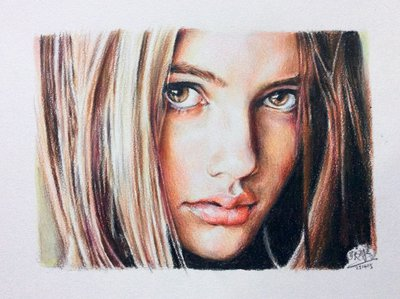 Drawn portrait colored pencil Portrait pencil Color by chaseroflight