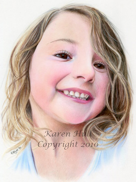 Drawn portrait colored pencil Pencil Cute Colored Quirky Portrait
