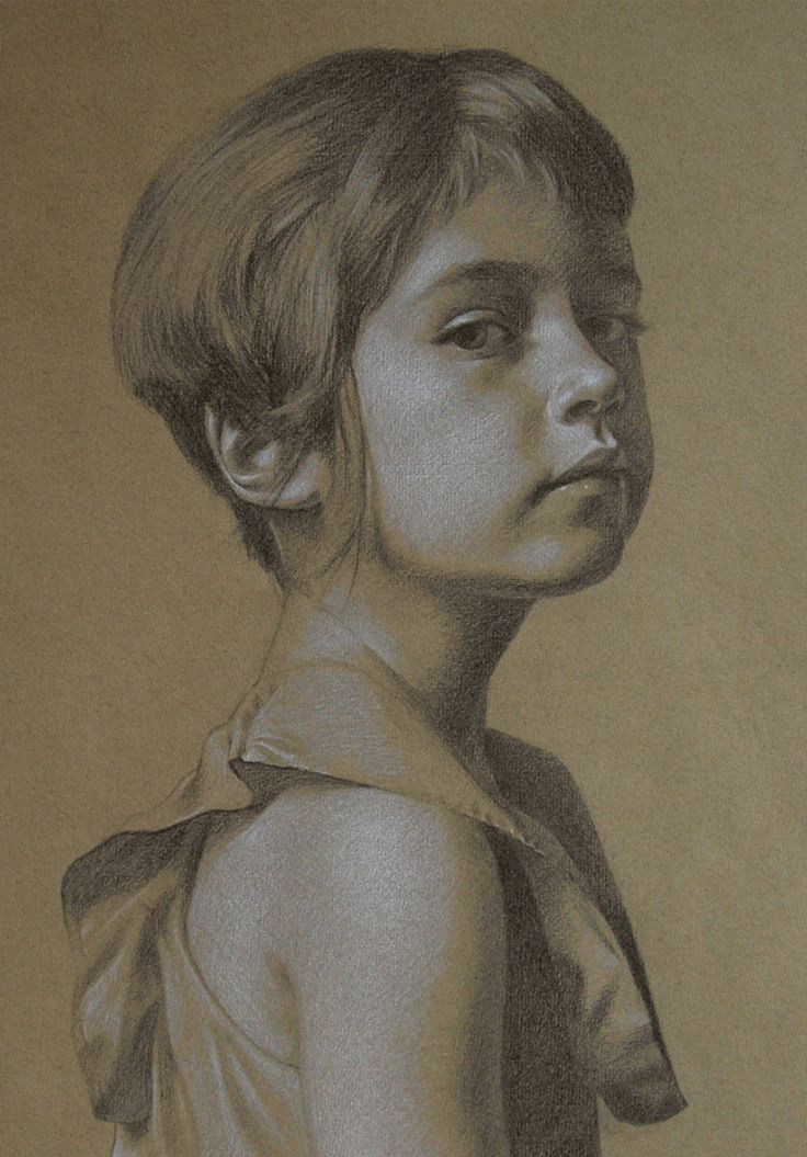 Drawn portrait contemporary Figurative /