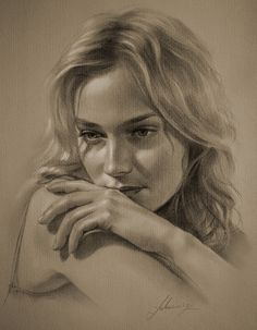 Drawn portrait contemporary Girl artist Photos Kei Blondes
