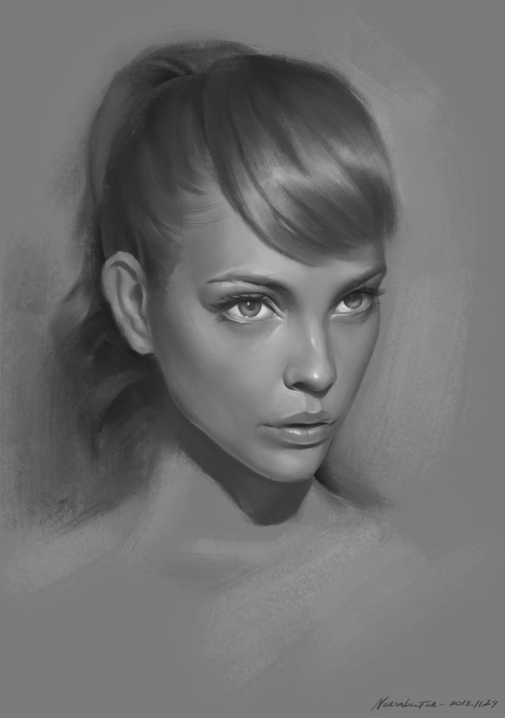 Drawn portrait creative character Digital and Pin 471 Painting