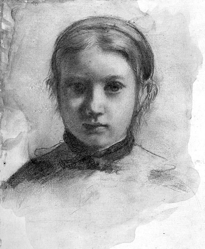 "Drawn portrait degas ""Giovananni Bellelli"" drawing 1834 Edgar"