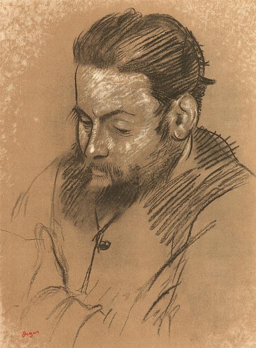 Drawn portrait degas Martelli by Edgar Of Portrait
