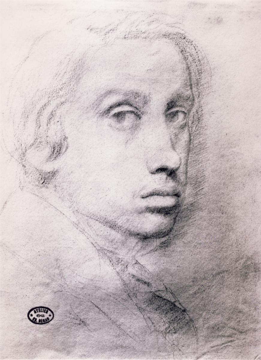 Drawn portrait degas The Self Portrait Study Edgar