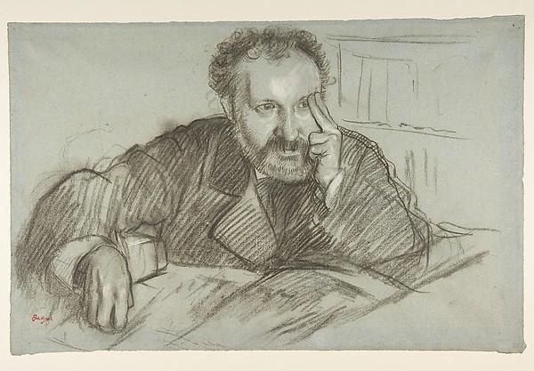 Drawn portrait degas Edmond Duranty (1833–1880) Edgar Share