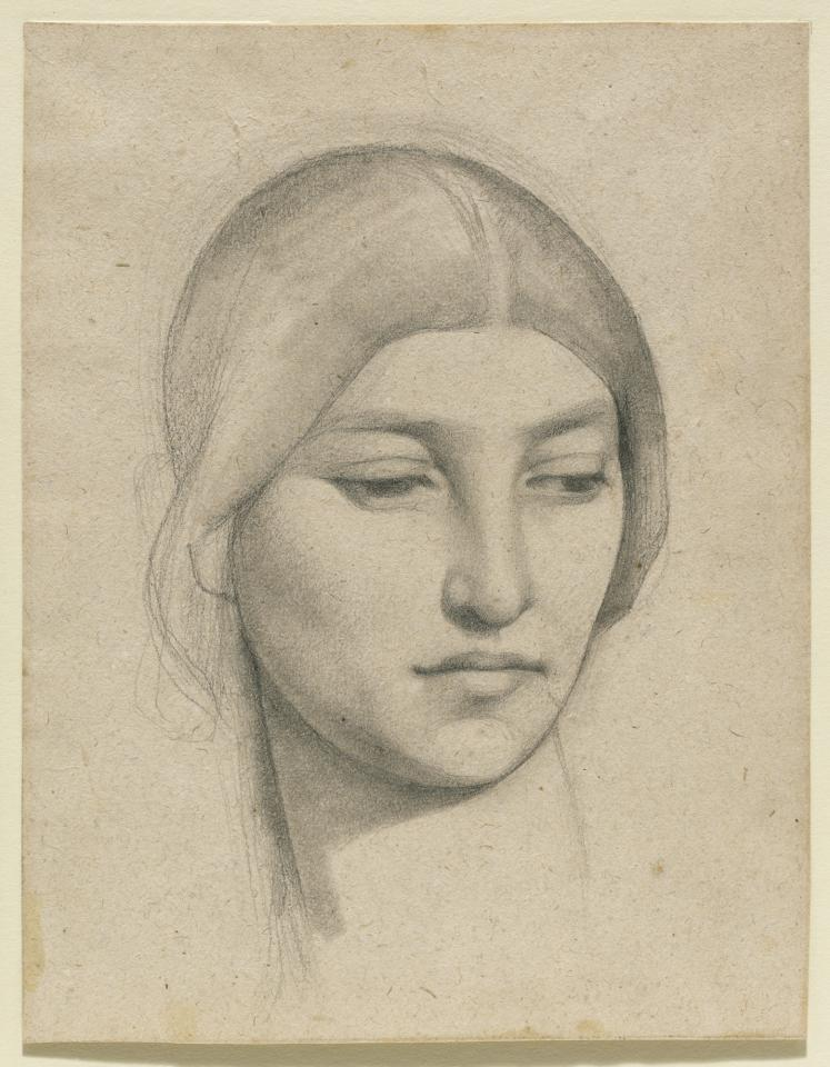 Drawn portrait degas Of a Woman's Chavannes Pierre
