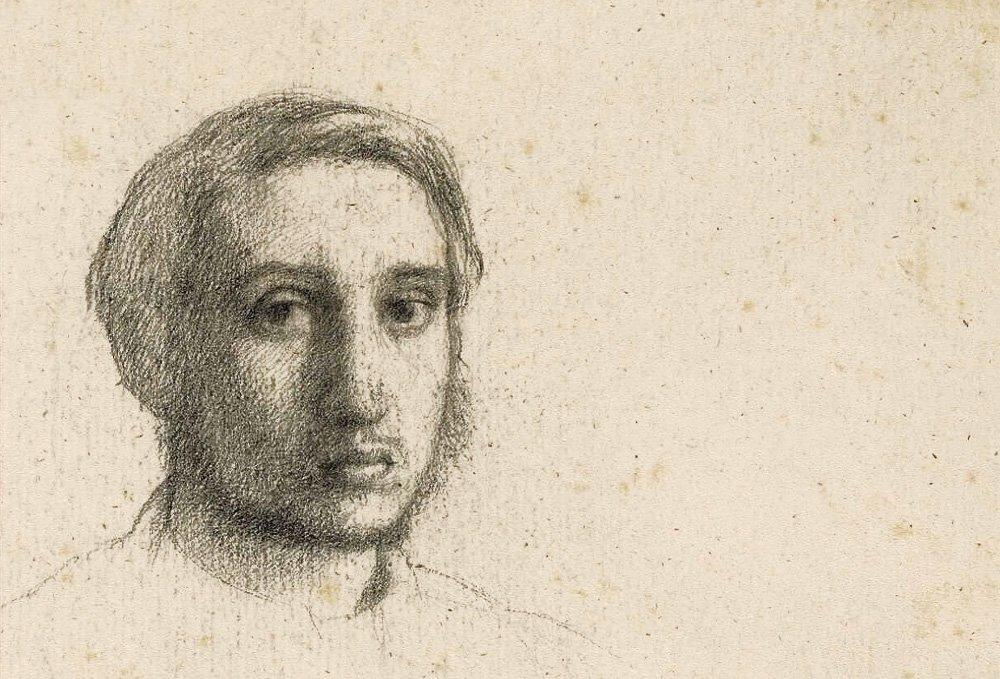Drawn portrait degas Sketchuniverse Self phases portrait