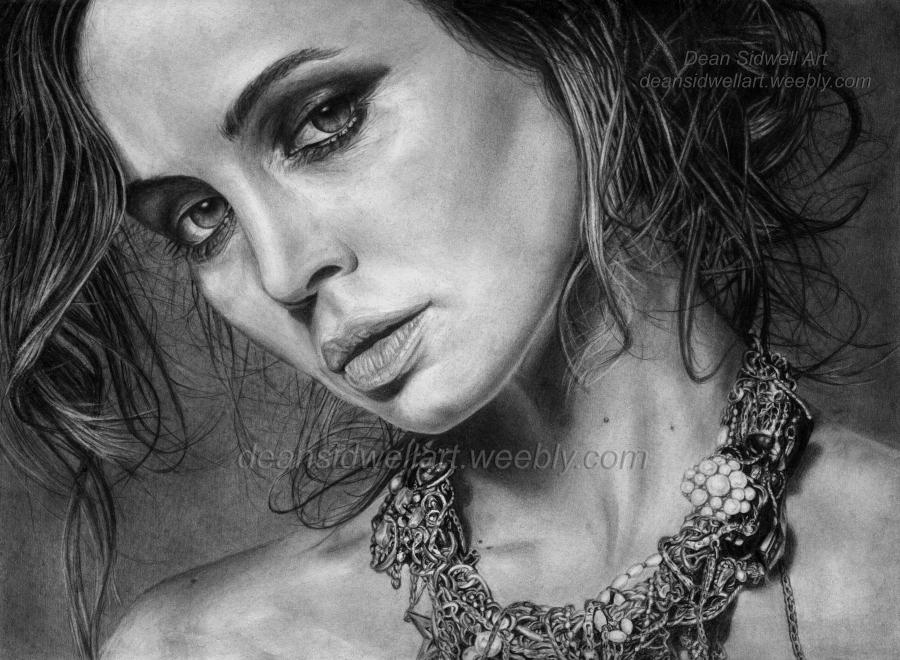 Drawn portrait detailed Drawing Dushku and Eliza my