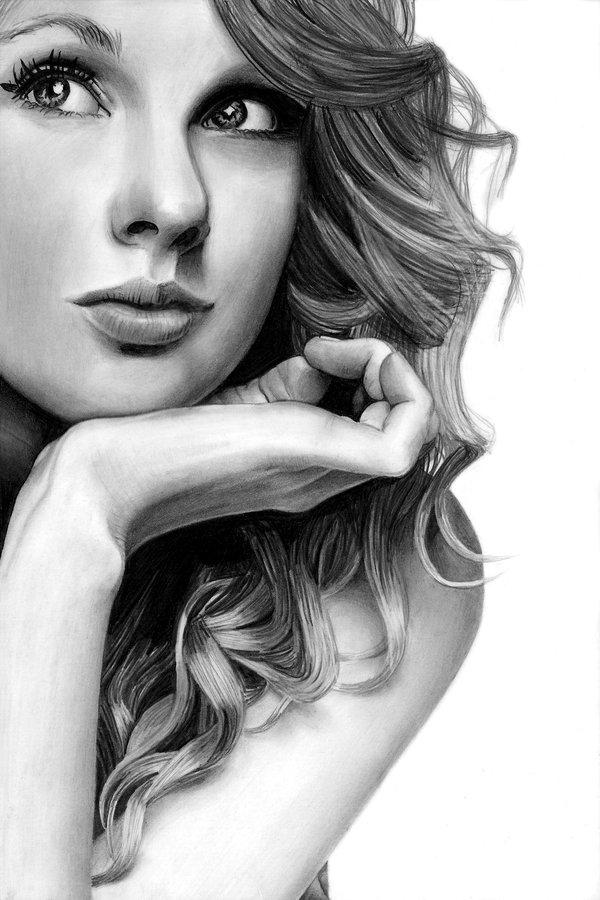 Drawn portrait deviantart Pencil ~theGaffney Swift Taylor on