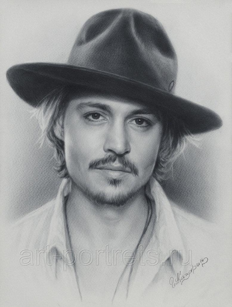 Drawn portrait deviantart  Depp Johnny Art Johnny