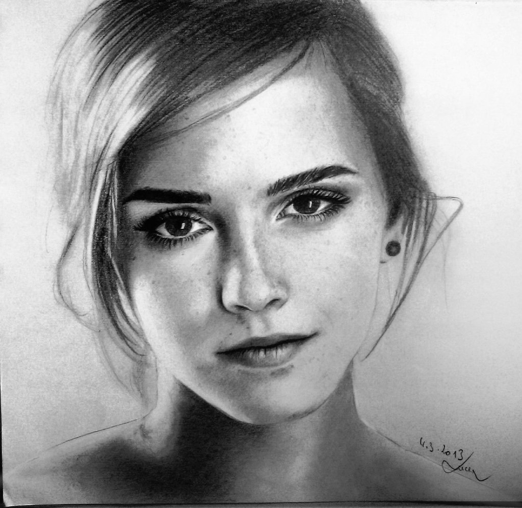 Drawn portrait deviantart Watson  MissRoxyMFC Watson Emma