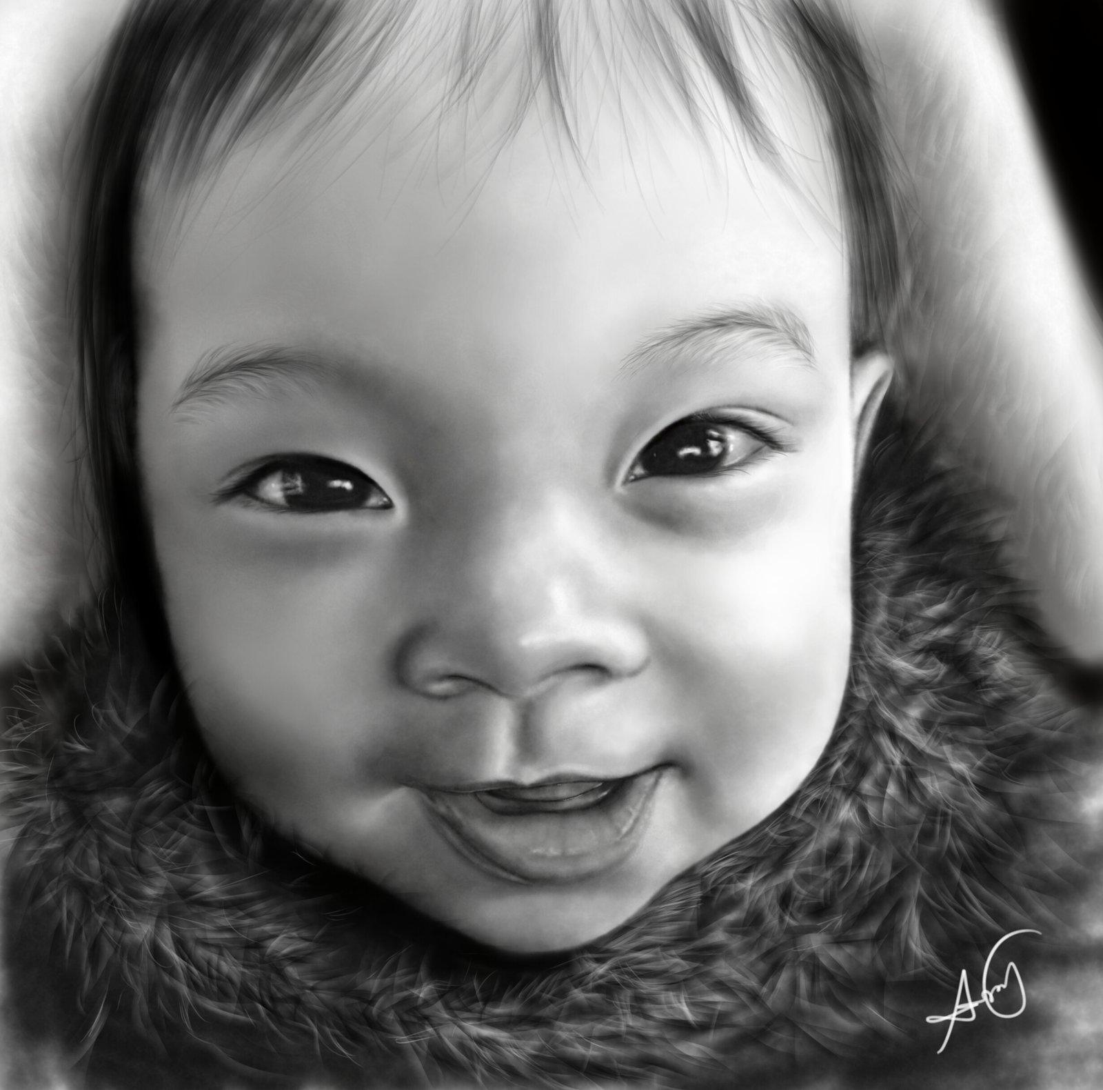 Drawn portrait digital Drawing Baby by DeviantArt Drawing