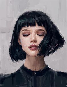 Drawn portrait digital Of Gilot Ivan  ArtStation