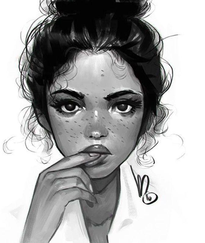 Drawn portrait digital Face on Melmadedooks Pinterest Best