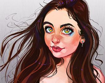 Drawn portrait digital drawing Digital – from Portraits Personalized