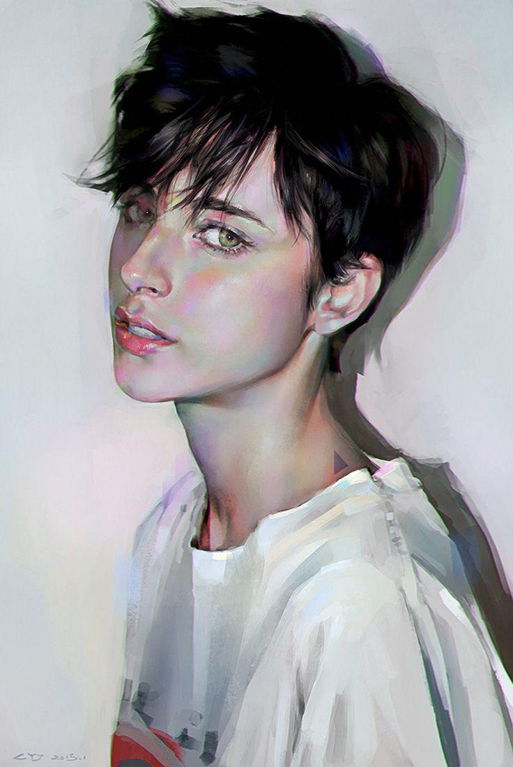 Drawn portrait digital illustration Images on Illustration more Illustration