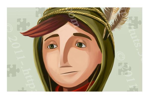Drawn portrait digital illustration Tutorials PSDFan Drawing Painting Digital