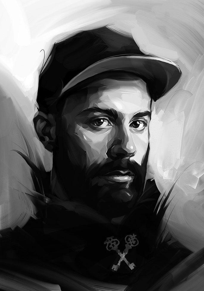 Drawn portrait digital illustration Painting Portraits  Digital Breathtaking
