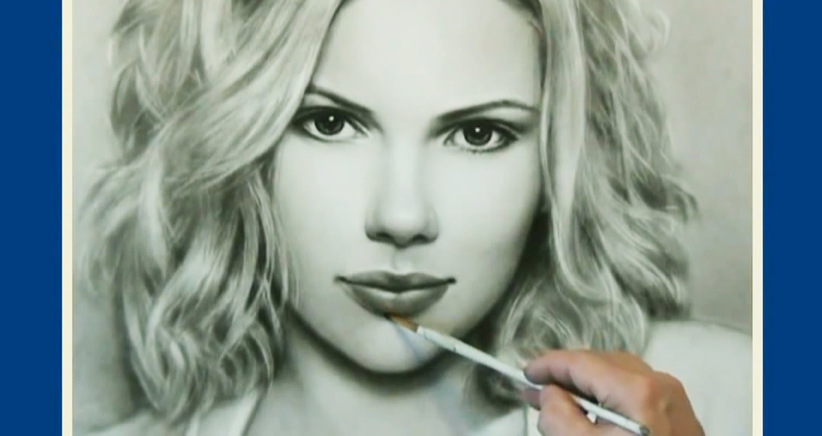 Drawn portrait dry brush By (Скарлетт Jakov Portrait Technique