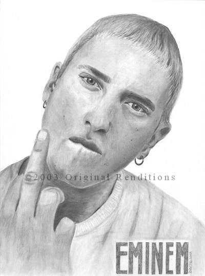 Drawn portrait eminem All Any 100 welcome! pencil