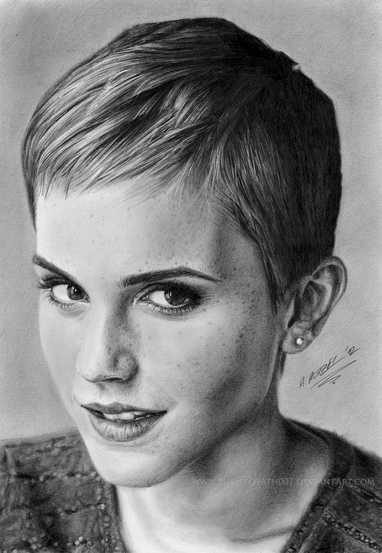 Drawn portrait emma watson Portrait 82 Angelstorm 82 Emma