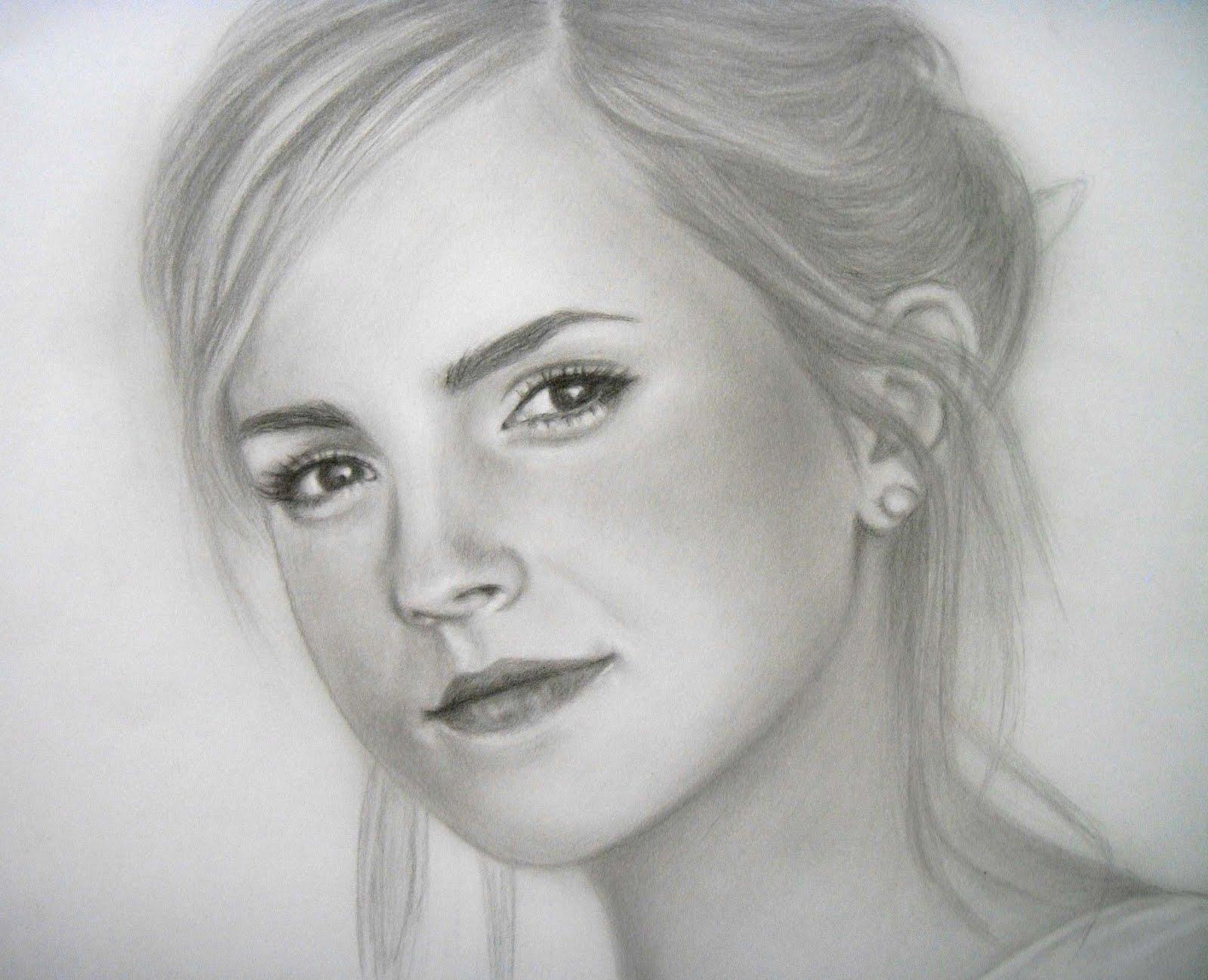 Drawn portrait emma watson Grace A 2 pencil Progress