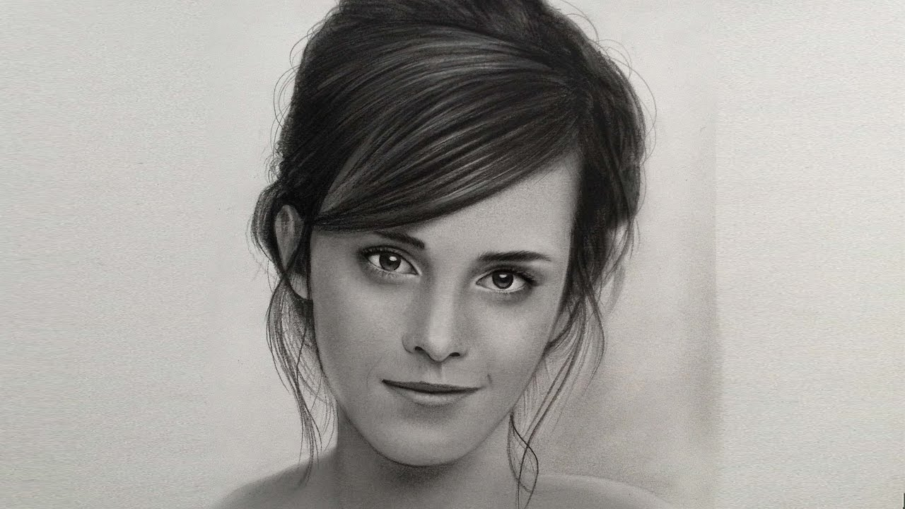 Drawn portrait emma watson Portrait Actress of film) Emma