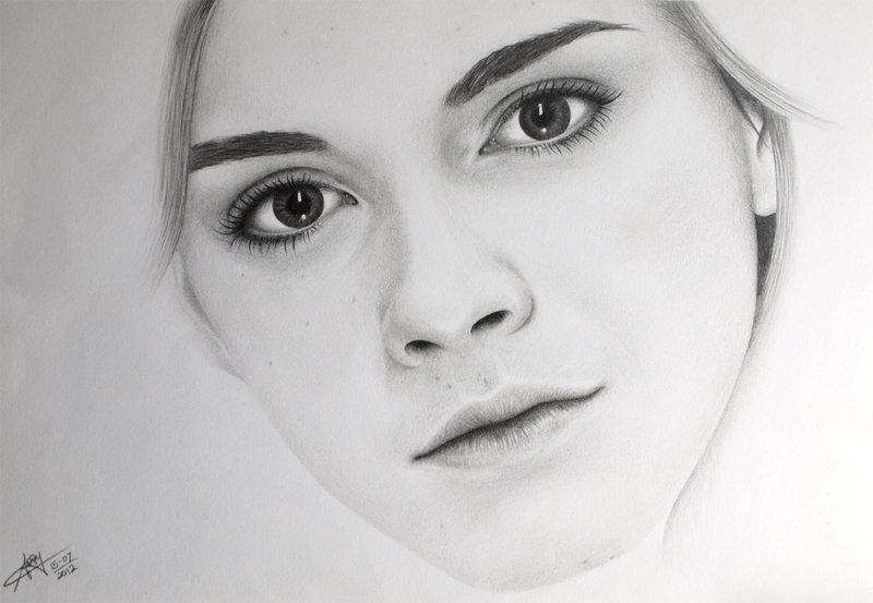 Drawn portrait emma watson Nicofey by nicofey by Emma