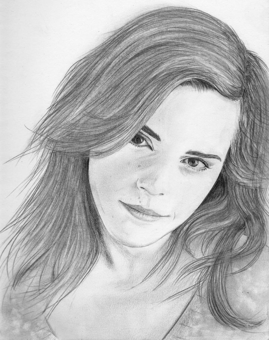 Drawn portrait emma watson 1 by Watson by SquidAndMilk