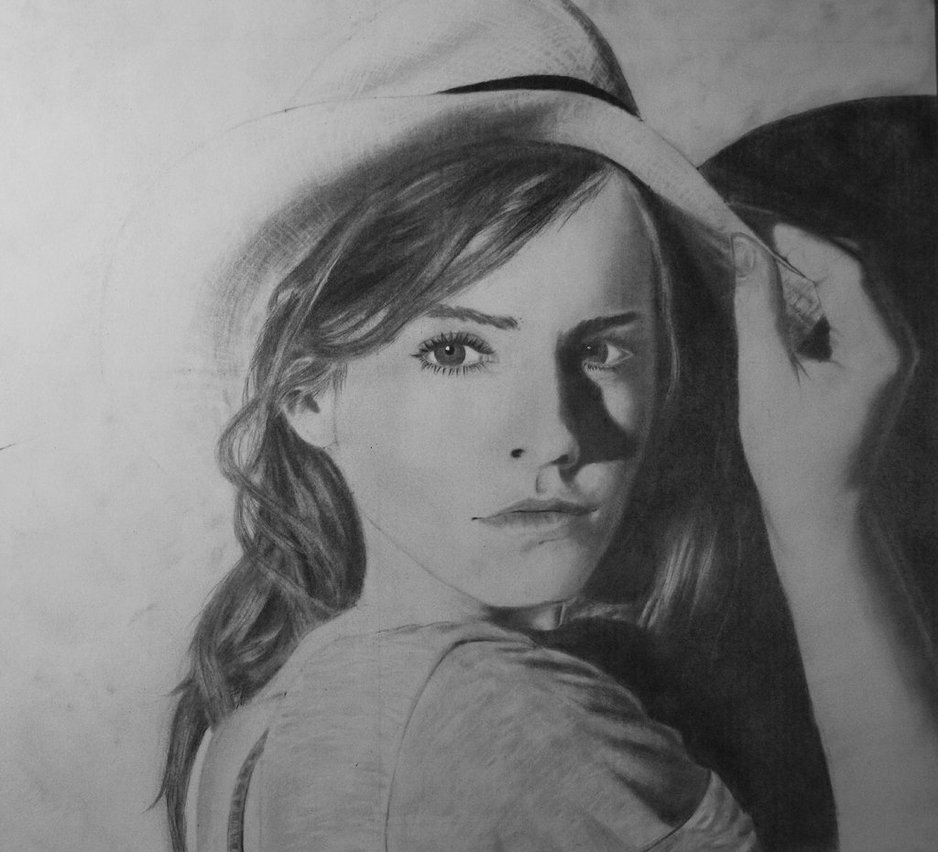 Drawn portrait emma watson By Watson Portrait Portrait Emma