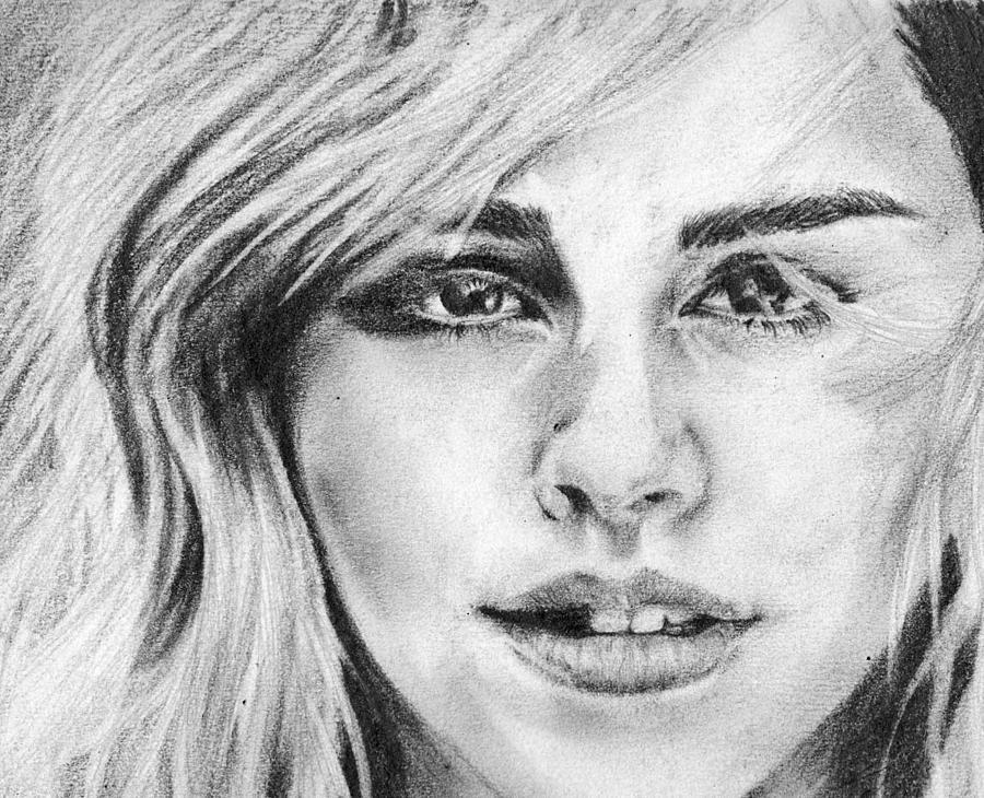 Drawn portrait emma watson De by Watson Drawing Shorf
